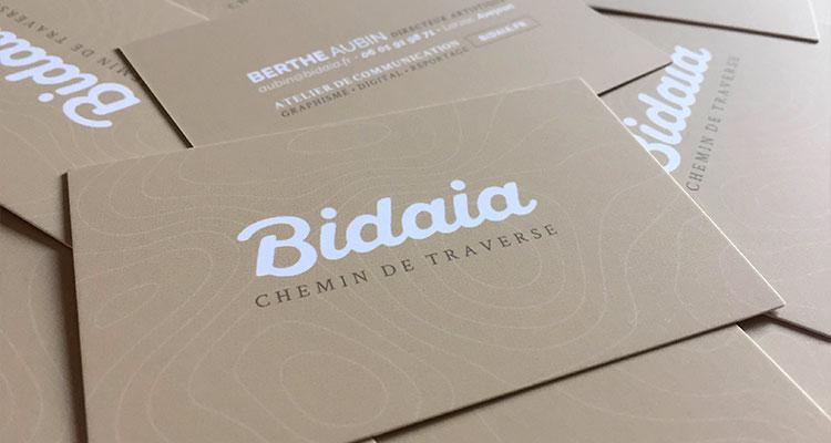 Illustration papeterie - Carte de visite Bidaia