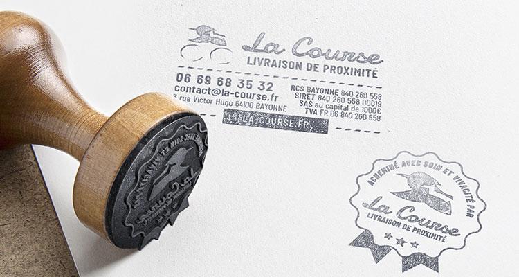 Illustration papeterie - Tampons La Course