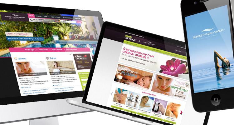 Webdesign Biarritz Thalasso Resort